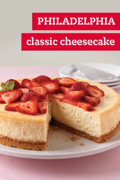 PHILADELPHIA Classic Cheesecake – Check out our recipe on how to make this delicious cheesecake recipe for yourself. It's everything you imagine a classic cheesecake dessert to be: creamy, sweet, and yummy!