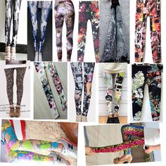 Hot Sexy Lady Pattern Print Women Stretch Leggings Tights Pencil Skinny  Pants  Bought @ eBay FOR ONLY $4.27 + FREE S&H!!