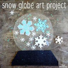 Snow Globe Art Project for Kids (she: Brooke)