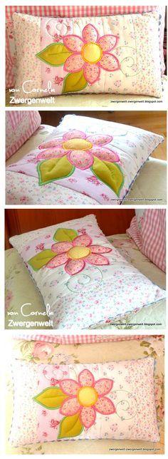 Der Stickbär | Designbeispiel: Flower-Patchwork-Pillow