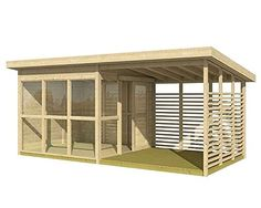 DIY Backyard Guest House That Can Be Built In 8 Hours - Allwood DIY cabin, pool house, garden house, studio Backyard Guest Houses, Backyard Office, Backyard Studio, Backyard Sheds, Backyard Cabin, Backyard Buildings, Backyard Kitchen, Shed Design, House Design