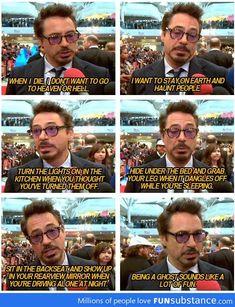 Robert Downey Jr being himself