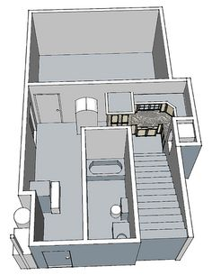 cabinetry in basement...drawn with Google's Sketch Up