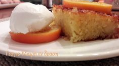 Πορτοκαλόπιτα by lena Cornbread, Pudding, Ethnic Recipes, Desserts, Food, Millet Bread, Tailgate Desserts, Deserts, Eten