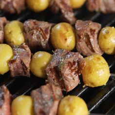 Your favorite dinner of steak and potatoes perfectly transformed for hot summer nights Get the recipe at delish easy recipe steak potatoes skewers kebab kebob steakpotatoes Easy Steak Recipes, Grilled Steak Recipes, Meat Recipes, Dinner Recipes, Cooking Recipes, Healthy Recipes, Smoker Recipes, Cooking Games, Cooking Tools