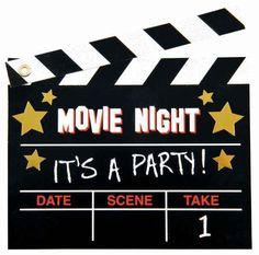 Film Fan Novelty Invitations | 8ct for $5.43 in Hollywood - Theme Parties - Theme & Event Parties