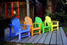 "pathodel: ""outdoormagic: "" IMGP2087 by norjam8 on Flickr. "" Adirondack Chairs """