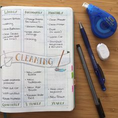 I only have half a house to look after so I haven't included things to do with the kitchen, laundry, garage, etc. That kinda stuff I share somewhat with the others. #bujo #bulletjournal #bulletjournaljunkies #bujocleaningschedule #cleaningroutine