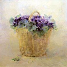 Violetas para Francisco. Óleo sobre lienzo. Obra de Carmen Laffón