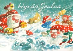 New Year Postcard, Gnomes, Elves, Happy New Year, Santa, Artists, Christmas Ornaments, Disney Princess, Disney Characters