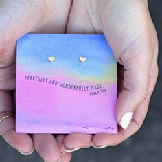 Earrings -  Quote Card - Fearfully Made
