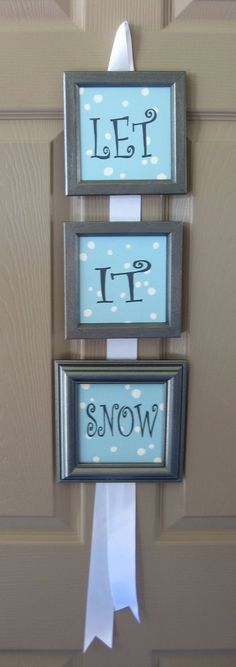 Let it snow - Could probably get materials from dollar store? Cricut/Silhouette  project!!!