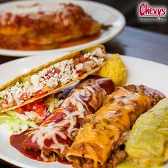 My favorite part of the Chevys Super Cinco is the…  A. Enchiladas  B. Soft Taco  C. Tamale D. Chile Relleno