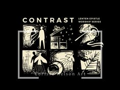 Contrast: Lent Sunday Series - Yr A — Corissa Nelson Church Graphic Design, Lenten, Holy Week, Art File, Guys And Girls, Cover Design, Worship, Contrast, How To Draw Hands