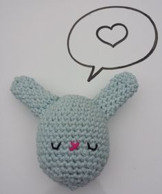 Crochet stuffed Bunny Egg toy, in 100% Cotton, Pastel Blue, Available in other colours by CroShellbyshelley on Etsy