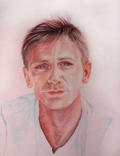 Daniel Craig  by Elena Venidiktova, colored pencils