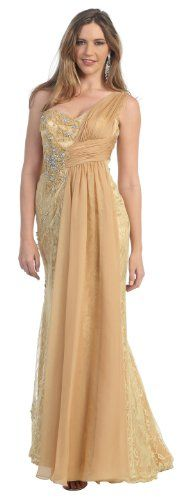 One Shoulder Formal Party Draped Gown Prom Dress « Store Break