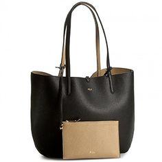 Ralph Lauren Womens Olivia Tote Handbag SHOPPERS WOMENS BAG DOUBLE LEATHER RALPH LAUREN 20.5 x 12.5 x 6 cm BLACK / BEIGE (Barcode EAN = 3614711762255). http://www.comparestoreprices.co.uk/december-2016-5/ralph-lauren-womens-olivia-tote-handbag.asp