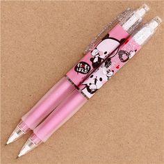 white-pink Kamio Mochi panda glitter mechanical pencil from Japan 1 Mechanical Pencils, Mochi, Cute Designs, Stationery, Glitter, Kawaii, Japan, Black And White, Pink