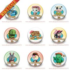 Wholesale,90pcs 30mm Sheriff Callie Wild West Buttons Pins Badges Brooches Round Badges Kid's Party Gift,Bags Decorate