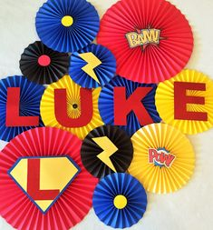 Superhero Theme Paper Fan Backdrop- Set of 13, Superhero Birthday, Comic Birthday, Superhero Decoration, Superhero Baby Shower by #pleatsonsheets
