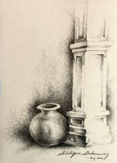 Charcoal Drawings, Dark Art Drawings, Pencil Drawings, Drawing Skills, Drawing Techniques, Indian Artwork, Futuristic City, Art Competitions, Art Programs
