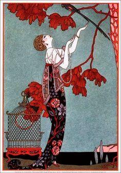 Belle époque illustration - ✯ http://www.pinterest.com/PinFantasy/lifestyles-~-belle-%C3%A9poque-y-a%C3%B1os-1920-arte-y-moda/