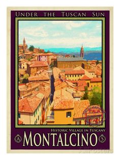 Montalcino Tuscany 1 Giclee Print by Anna Siena at AllPosters.com
