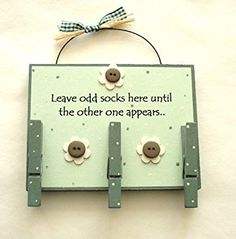 Odd Socks Wooden Plaque