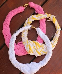 T-Shirt Time! This DIY Turns Your Old Tees Into A Nautical-Cool Necklace or Headbands !