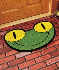 """Frog Shaped Coir Doormat by LTD. $29.95. Frog Shaped Coir Doormat is a fresh and colorful way to greet guests. Cute design adds a vibrant splash to your doorstep. In addition, it keeps dirt and mud off your floors. 18"""" x 29-1/2"""". Coir and PVC.      A fun accent for your doorway     Friendly frog to welcome your guests!     Details:         18"""" x 29-1/2""""         Coir and PVC. Frog Shaped Coir Doormat is a fresh and colorful way to greet guests. Cute design adds a vibrant s..."""