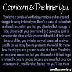 Capricorn and the inner you.