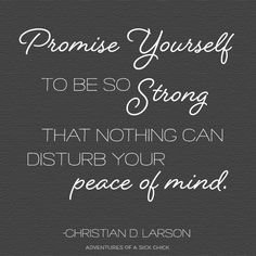 Promise Yourself, The Optimist Creed, Christian D. Larson