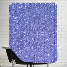 East Urban Home Sparkly Single Shower Curtain Luxury Shower Curtain, Shower Curtain Rods, Tropical Shower Curtains, Cheap Sheets, Shower Liner, White Stain, Colorful Curtains, Laundry In Bathroom
