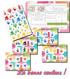La maternelle de Laurène: La bonne couleur ! French Websites, Petite Section, File Folder Games, Child Development, Montessori, Kids Learning, Activities For Kids, Kindergarten, Shapes