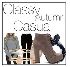 """""""Classy Autumn #1"""" by kiwijulin on Polyvore featuring J.Crew, Aéropostale, New Look and Accessorize"""