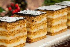 Idealne ciasto na nadchodzące święta. Ciasto musi poleżeć kilka dni w lodówce, ale po tym czasie dosłownie rozpływa się w ustach. Czytaj dalej → Polish Desserts, Cookie Desserts, Holiday Desserts, No Bake Desserts, Cookie Recipes, Dessert Recipes, Sandwich Cake, Sweets Cake, Bread Cake
