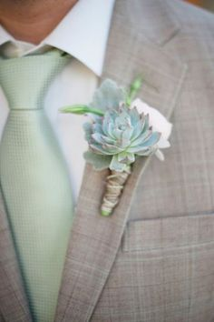 Succulent boutonniere - Wedding Diary