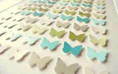 -DIY Butterfly Art using self-adhesive stickers, paint sample cards, & a frame! Paint Chip Cards, Paint Sample Cards, Paint Samples, Butterfly Painting, Butterfly Art, Butterfly Project, Paper Butterflies, Arts And Crafts Projects, Fun Crafts