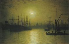 Nightfall on the Thames, 1880 - John Atkinson Grimshaw - WikiPaintings.org
