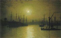 Nightfall on the Thames, 1880 - John Atkinson Grimshaw - WikiPaintings.org