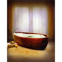 Everybody wants to relax at the end of the busy day. Best way to feel relaxed is to chill in your bathtub. If you put wooden bathtub in your bathroom you Wood Tub, Wood Bathtub, Wooden Bath, Bathtub Remodel, Stone Houses, Bathroom Furniture, Bathroom Ideas, Design Bathroom, Woodworking Projects