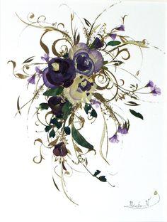 -Nagaoka- 押し花ポストカードキャスケードブーケに創った押し花額絵をポストカードにいたしました。真ん中のお花はパンジーですが、バラの花にも見えますね。...|ハンドメイド、手作り、手仕事品の通販・販売・購入ならCreema。 Cloth Flowers, Dried Flowers, Resin Crafts, Paper Crafts, Pressed Flower Art, Grace Kelly, Collage Sheet, Flower Crafts, Creema