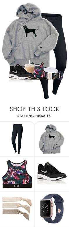 """//don't worry be happy//"" by simplesouthernlife01 ❤ liked on Polyvore featuring NIKE, Victoria's Secret and Emi-Jay"