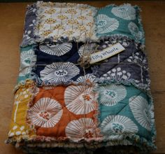 Cotton Rag Quilt for Baby Girl or Boy Ready to by TillyWhistle