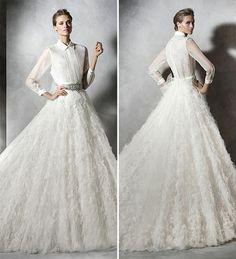 Vestido de noiva de camisa