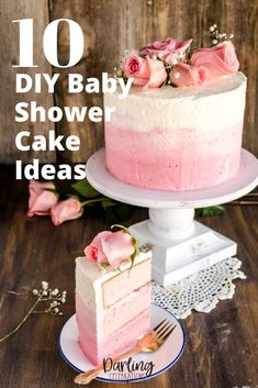 Easy to make DIY Baby Shower Cakes. Get full recipes and instructions for 10 of the prettiest DIY Baby Shower cake ideas. #babyshowercakes #DIYbabyshowercakes #DIYbabyshowercakeideas Amazing Baby Shower Cakes, Baby Shower Cakes For Boys, Tea Party Baby Shower, Baby Shower Winter, Baby Shower Advice, Shower Ideas, Cake Works, Baby Shower Flowers, Strawberry Cakes