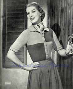 Subversive Femme: Curvy Month Pattern Six: Carnaval Cardigan, c.1950s