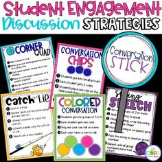 Student engagement discussion strategies and activities with accountability recording sheets. For K-6
