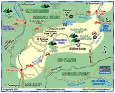 Alpine Loop ATV, Jeep Trails Map, CO, Colorado Vacation Directory